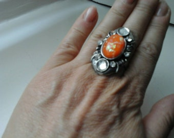 Vintage Ring in Orange