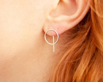 GRACE.2. small earrings in 925 silver, brass or copper