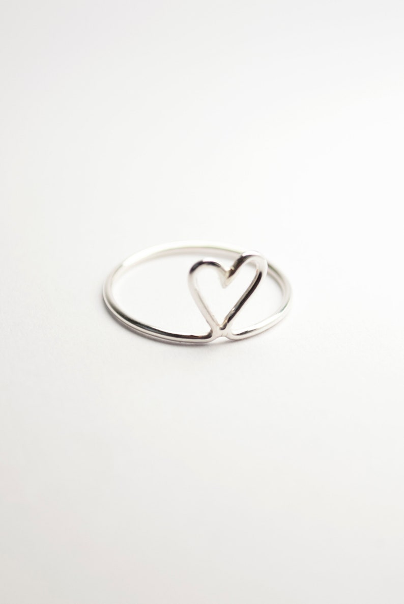 Maja. Heart ring available in copper brass or silver Silber