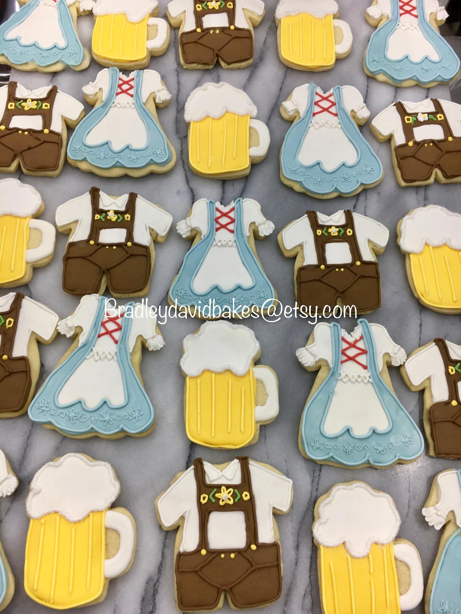 Octoberfest & Beer Decorated Cookies
