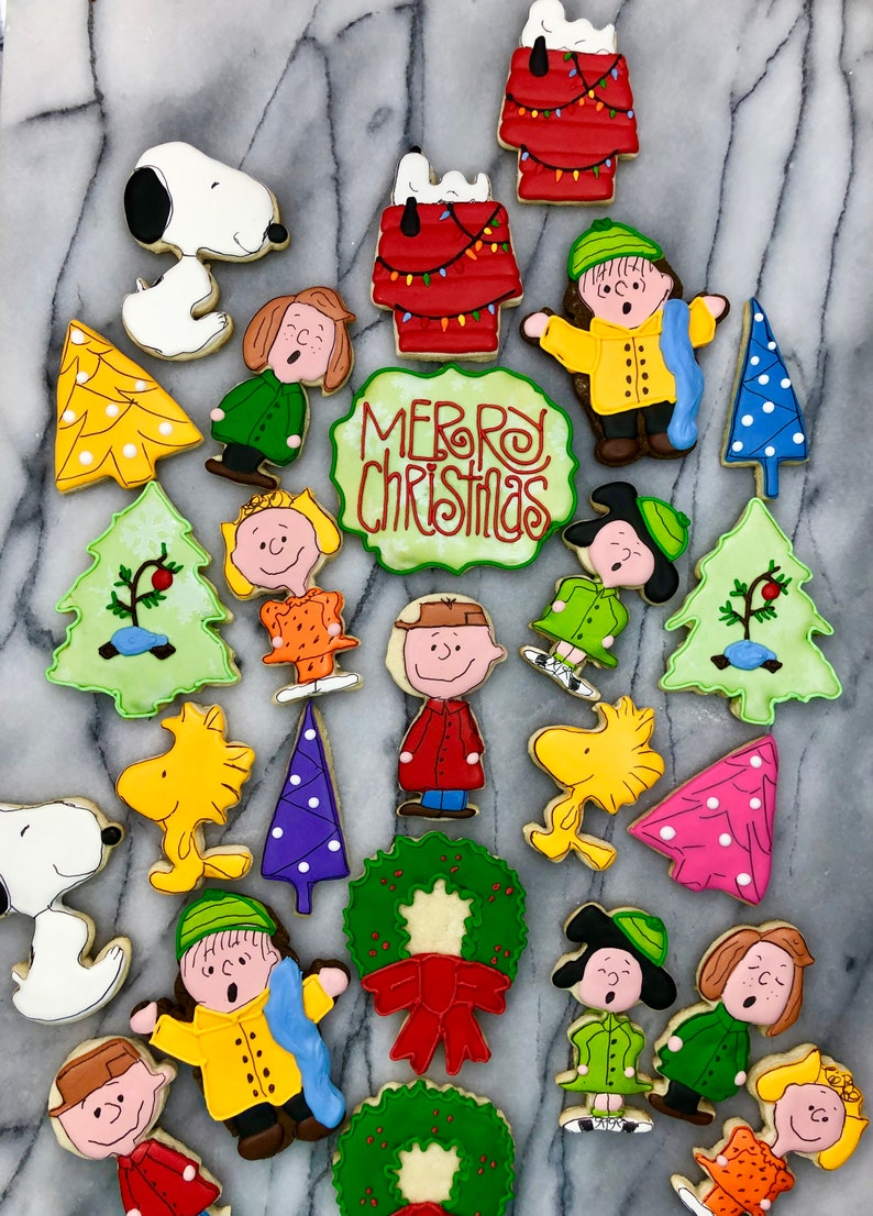 Peanuts Charlie Brown Snoopy Christmas Cookies