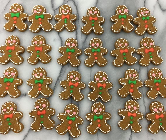 Mini Bite Sized Gingerbread Men Christmas Cookies