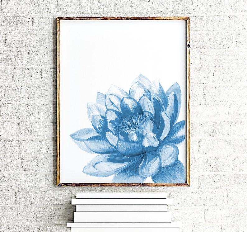 Lotus Flower Print Art Yoga Artwork Lotus Wall Decor Lotus Etsy