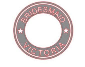Starbucks Sticker - Bridesmaids Decal - Maid of Honor Sticker - Bridesmaids Gift Sticker - Coffee Cup Decal - Wedding Gift Sticker
