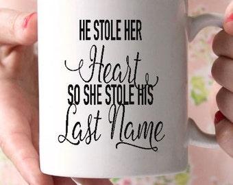 Wedding gift-Wedding announcement mug-Valentines Day Gift-Newly engaged Gift-Custom Coffee Mug-Personalized coffee mug- Tea cup- Gift friend