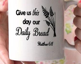 Prayer mug-Scripture mug-Coffee mug-Ceramic mug-Religious gift-Holiday gift-Valentines Day Gift- Gift for friend- Vinyl mug- Teachers gift