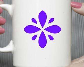 Flower mug - Christmas gift mug-Gift exchange-Gift under 15-Coffee mug-Ceramic mug-Holiday gift- Gift for friend- Vinyl mug- Teachers gift