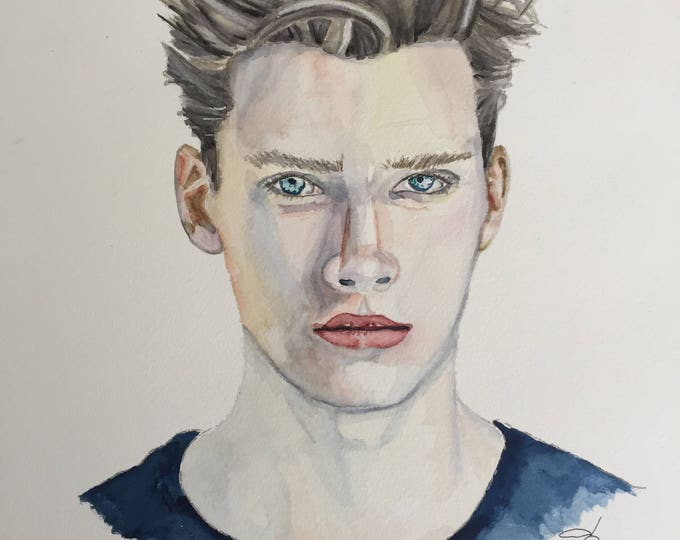 Custom Watercolor Portraits from your high resolution photo