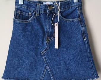 Upcycled Denim - Jean Skirt - Toddler Girls Size 6