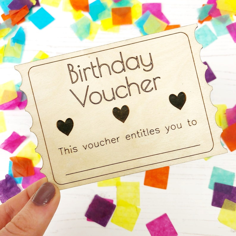 Birthday Voucher Coupon Token Gift For