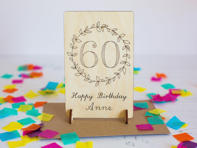 60th Birthday Card 60 Gift