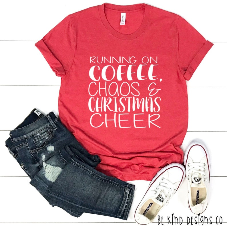 6a714151 Running On Coffee Chaos & Christmas Cheer Unisex Tee Womens | Etsy