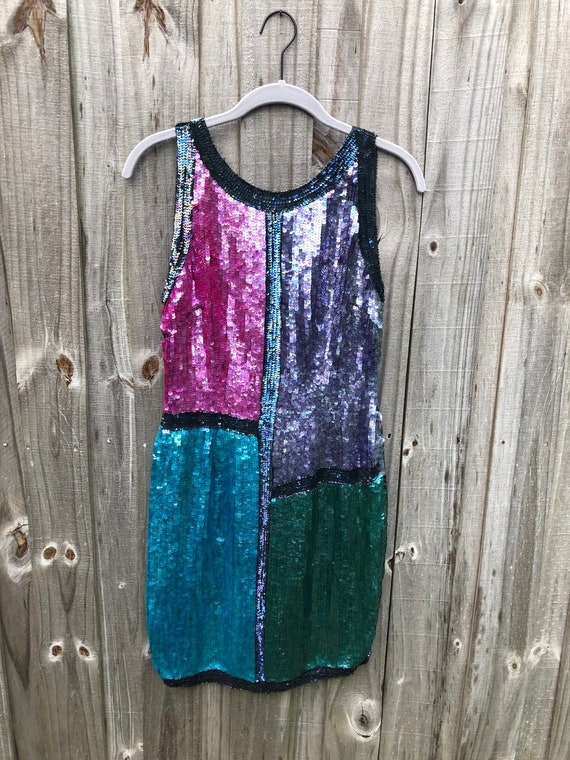 1980s Oh! Johnny Sequin Dress
