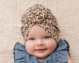 27366d52532852 Leopard Top Knot Turban, Cheetah Baby Turban, Toddler Spring Outfit, Adult  Headwrap, Newborn Hat
