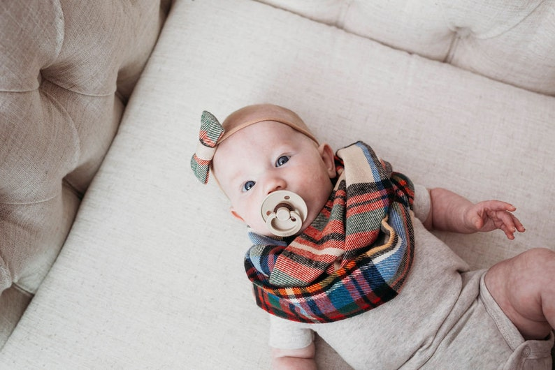 Plaid Infinity Scarf Baby Infinity Scarf Toddler Fall image 0