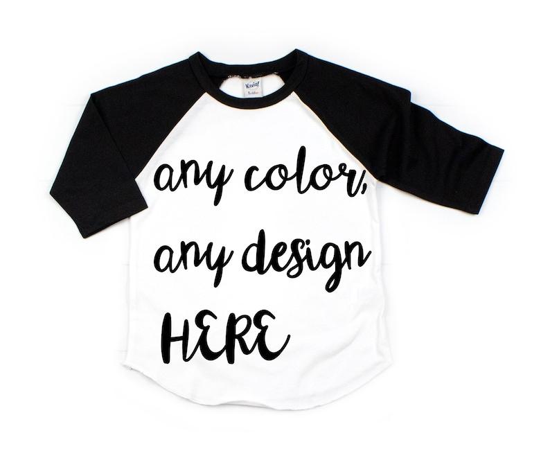 03249532d7b8 Custom kid raglan custom toddler shirt custom child raglan | Etsy