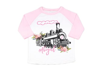 girls train shirt, train birthday girls, train shirt for girls, train birthday for girls, cute train shirt, personalized, two