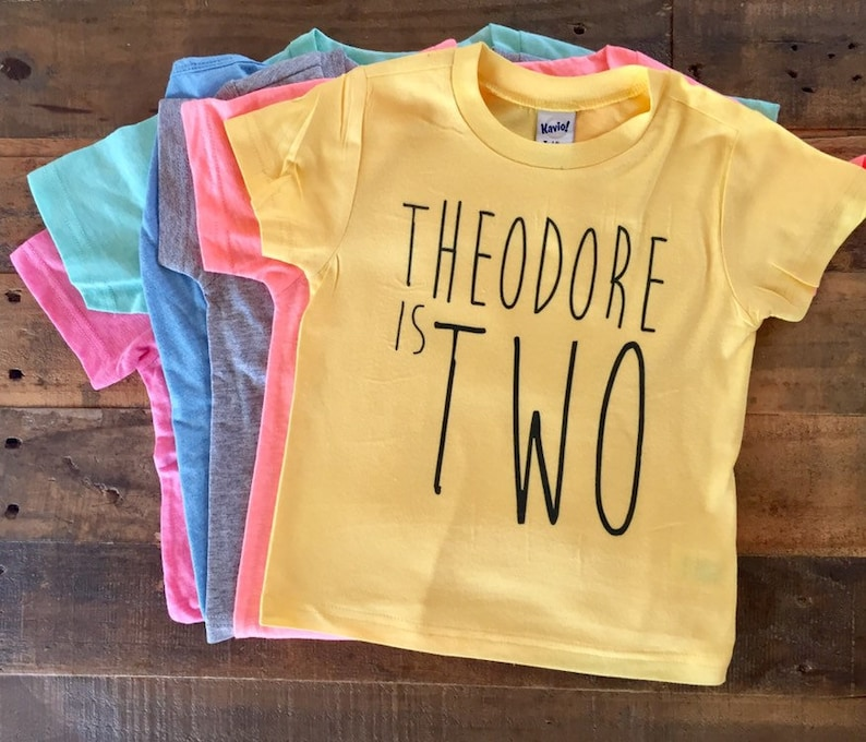 Second Birthday Shirt 2nd Personalized