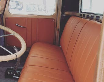 Acme U2005-4545 Front Maroon Vinyl Bench Seat Upholstery