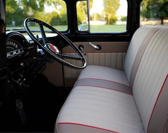 "The ""Morgan Freeman"" Ford 1973-1979 Open Back Custom truck bench upholstery 1973 1974 1975 1976 1977 1978 1979 f100 f-100 classic hot rod"