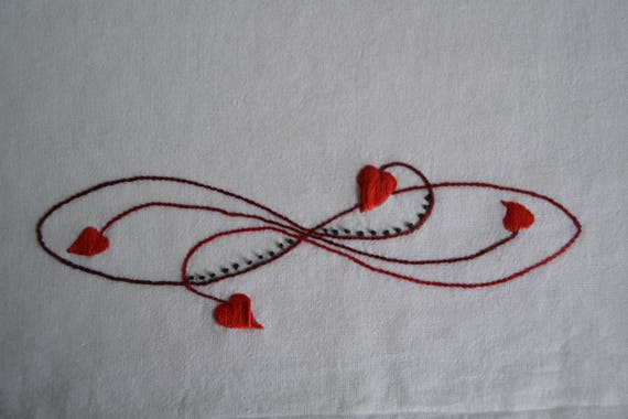 Dangling Hearts Embroidery Pattern Hand Embroidery Heart Etsy
