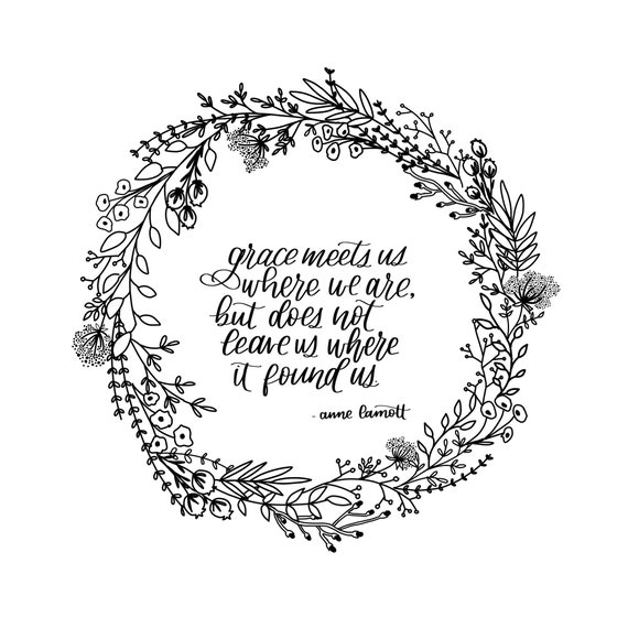 Grace meets us where we are | Inspirational quote | printable quotes |  digital download | home decor | DIY Foil Prints