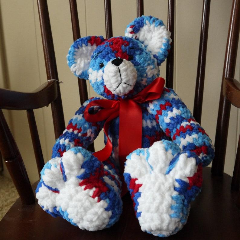 Patriotic Keepsake Bear  Birthday Gift  Best Friend Gift  Baby Gift  Nursery Decor  Stuffed Animal  Best Selling Items  Toddler