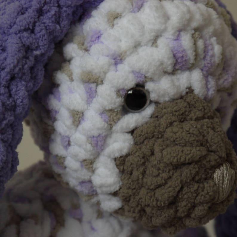 Custom baby shower gift plush Baby soft /'Lavender Bunny/' is Custom Made soft toy. Keepsake baby gift stuffed crochet bunny