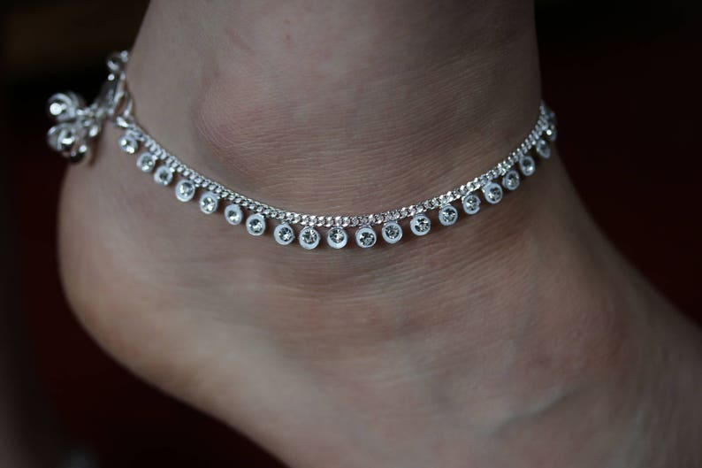 Anklets Pair Indian Star Anklet Payal Silver Tone Bracelets Ankle Chain Fashion Jewelry High Quality Goods