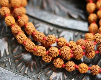 Lord Shiva Rudraksha Japa Mala 108 beads traditional style hand knotted mala purified & blessed