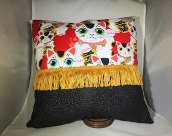 Lucky Cat Pillow
