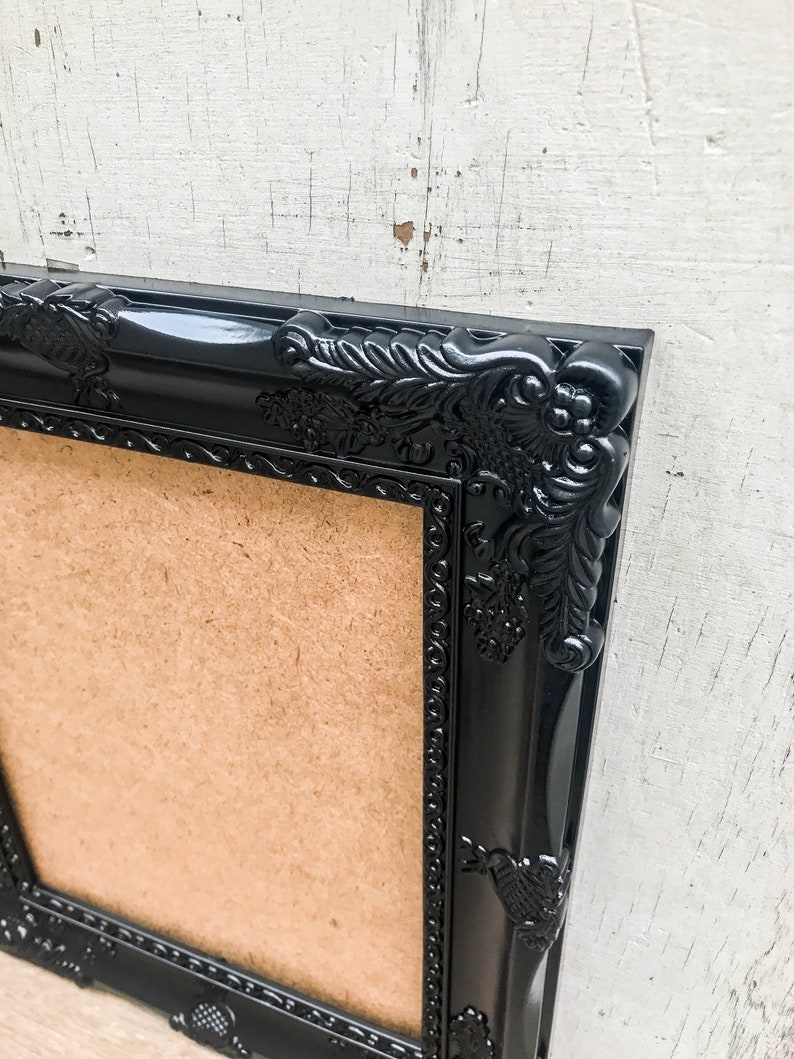 Baroque Black Table Number 8x10 Ornate Antique Vintage Style Wedding Shabby Chic SET OF 10 Picture Frames French Country