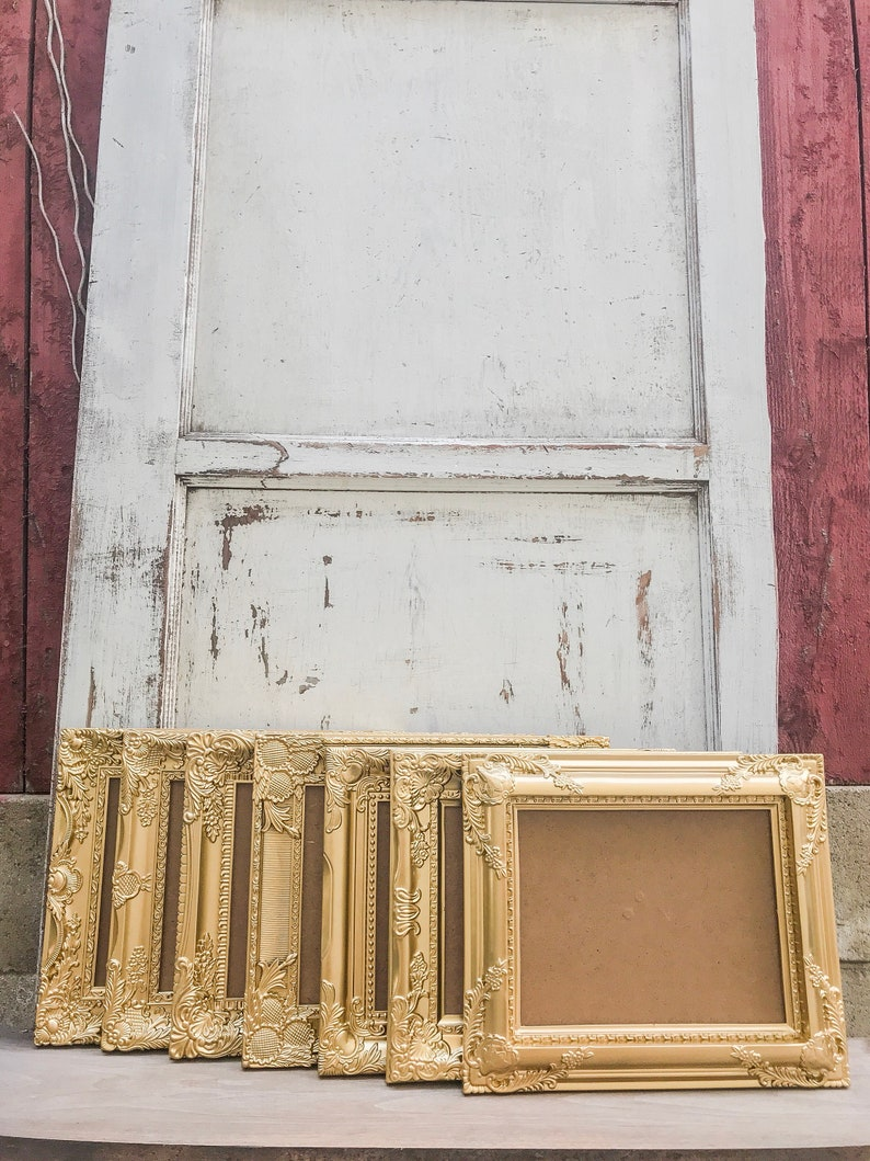 French Country Baroque Ornate Shabby Chic SET OF 9 Picture Frames 8x10 Antique Vintage Style Gold Wedding Mix /& Match Table Number