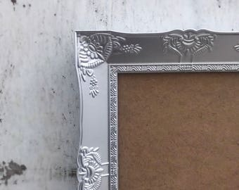 Picture Frame, 5x7, Shabby Chic, Silver, French Country, Baroque, Antique Vintage Style, Ornate, Wedding, Home, Nursery, Wall Decor