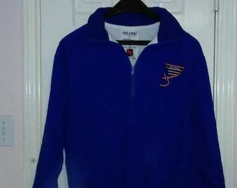 Saint Louis Blues pull over jacket sz XL