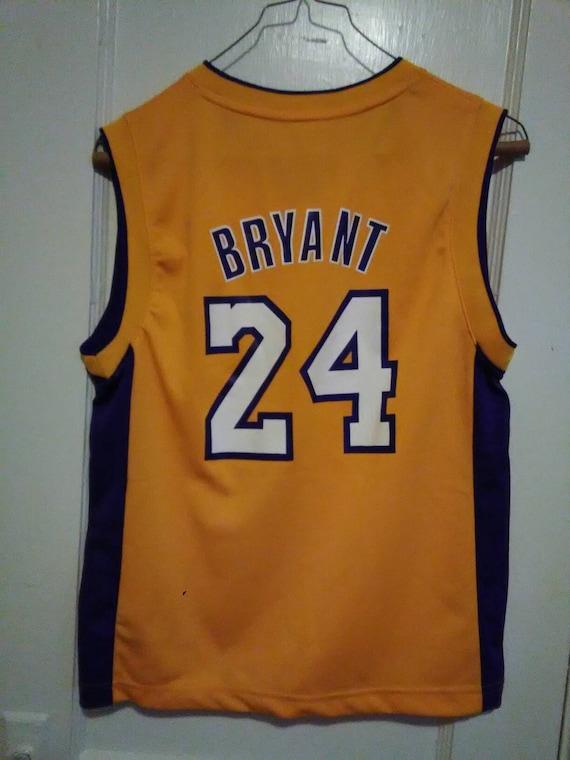 ADIDAS KOBE BRYANT #24 LA LAKERS Jersey, Sz Youth Large, 14