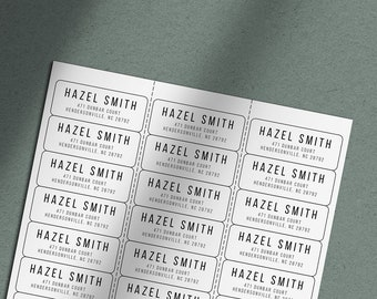 Family Label 1 x 2.125 LAB-17 Address Label Wedding Address Label Return Address Stickers Address Sticker