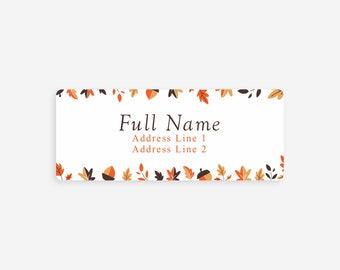 fall return label etsy