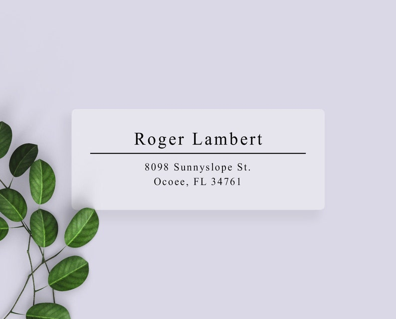 Clear or White Matte Stylish Return Address Labels / Simple Clear Gloss