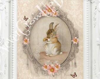 Flopsy Bunnies Beatrix Potter Decor Vintage Beatrix Potter Print Tale of Peter Rabbit  Beatrix Potter Nursery Art Vintage Wall Decor C:B6