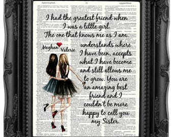 Sister Gift Christmas Personalized From For Birthday Quote Art Print 224