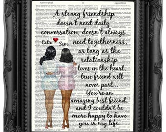 Best Friend Gift Long Distance Personalized Birthday For Wedding 249