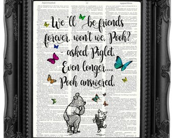 Bester Freund Geschenk Winnie The Pooh Zitat besten Freund zum | Etsy
