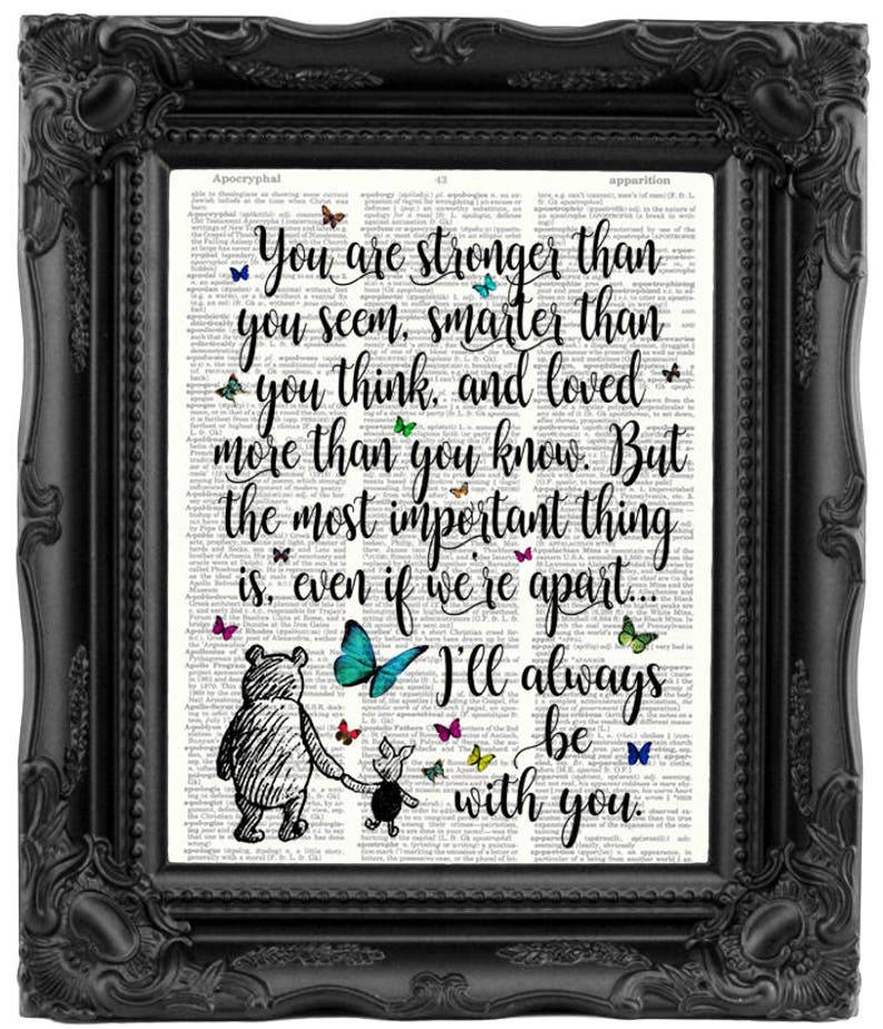 Best Friend Gift Winnie The Pooh Quote Birthday