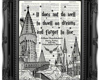 Harry Potter Gift Harry Potter Print Dumbledore Quote HARRY POTTER Quote Harry Potter Birthday Gift Son gift Daughter birthday gift  167