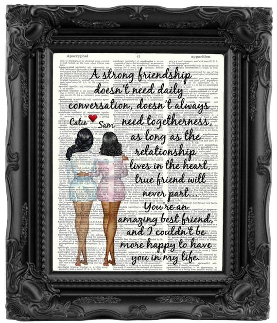 Best Friend Gift Long Distance Personalized