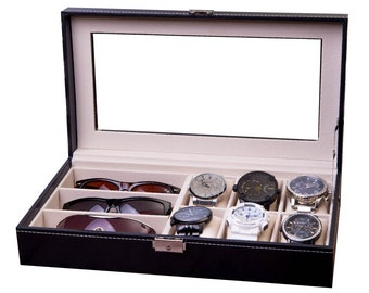 Watch U0026 Sunglass Box, Combo Display Case, Watch Case, Sunglasses Case  Storage, Display Rack, Watch Organizer, Jewelry Box, Unqiue Gift