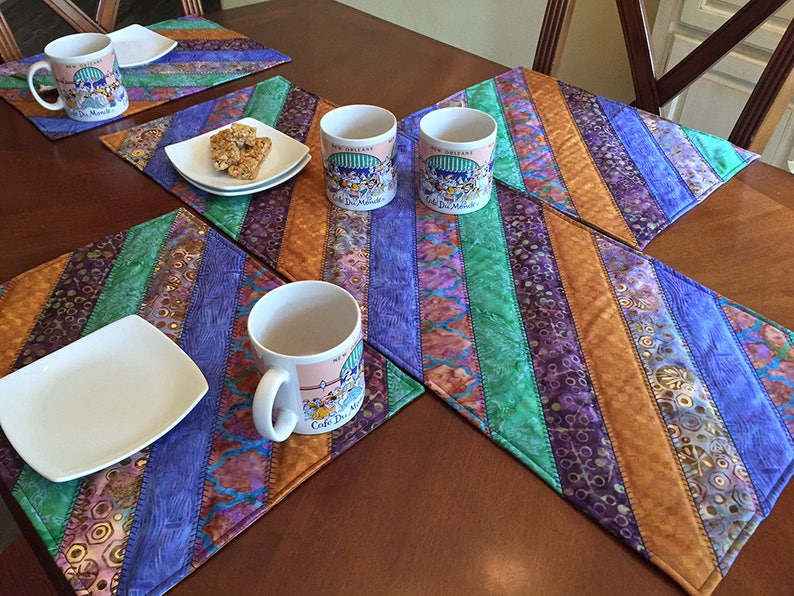 Purple Reign Table Runner Placemats Set Of 4 Etsy