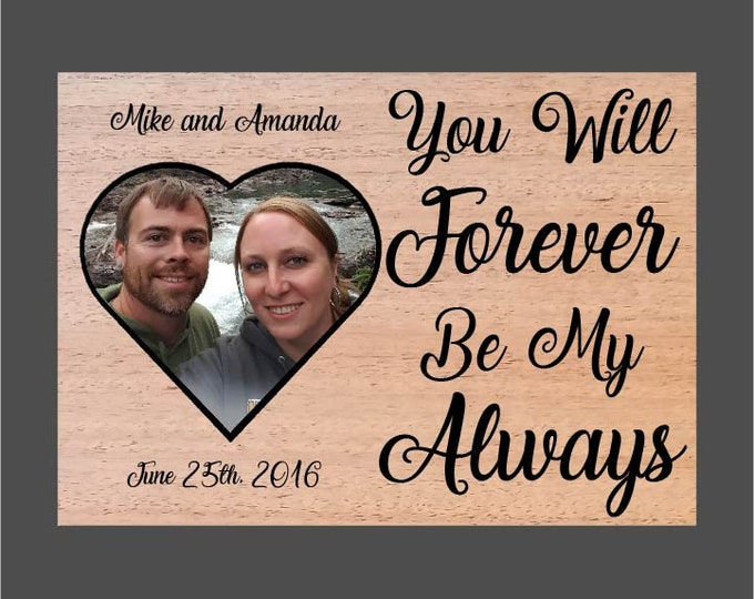 Featured listing image: Forever My Always Wood Burned Frame