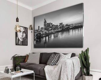 Nashville Canvas Art, Nashville canvas, Nashville wall art, City canvas, City canvas art, Town canvas, Large canvas, Home decor, Nashville